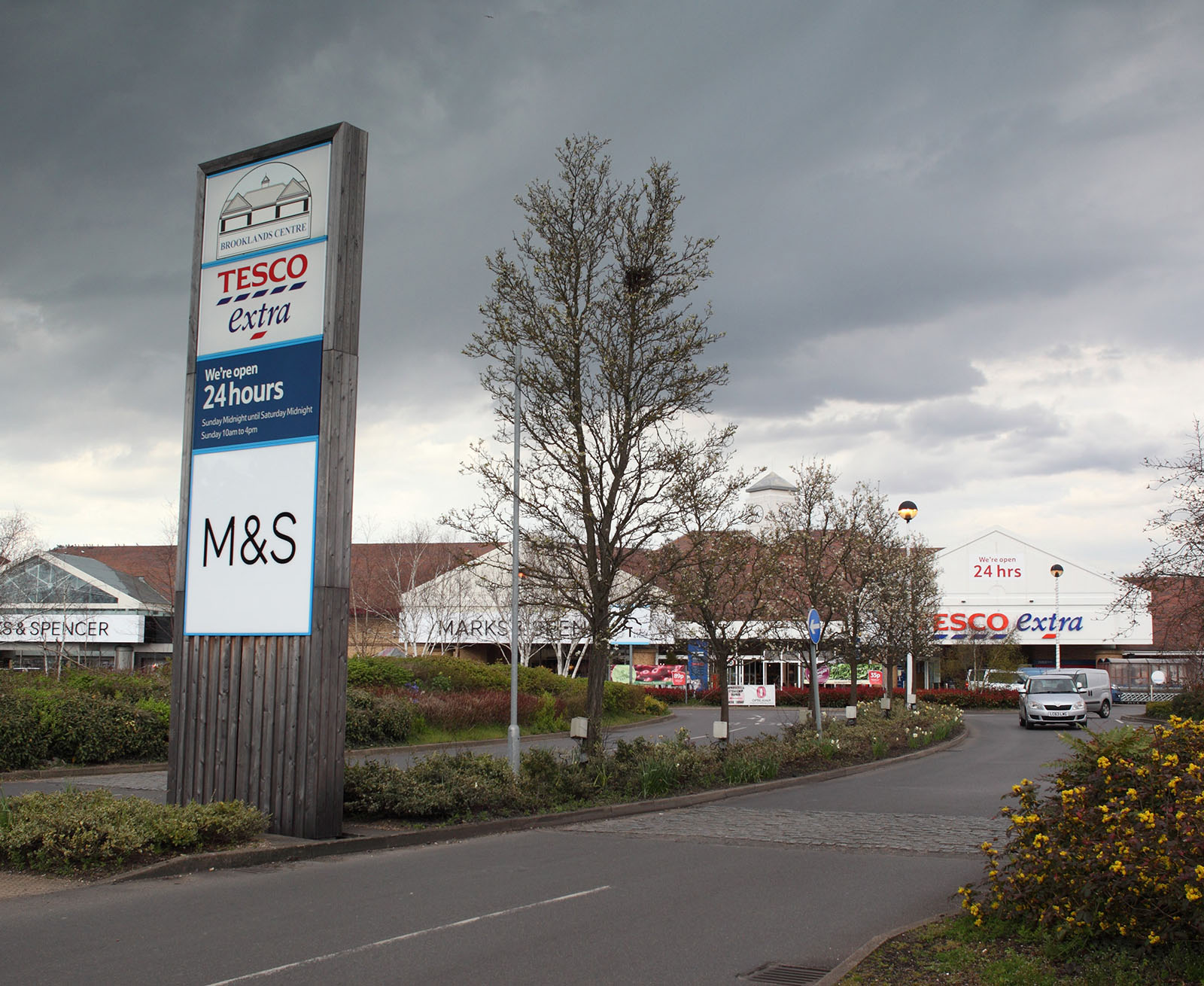 Tesco Extra and Marks and Spencer at Brooklands