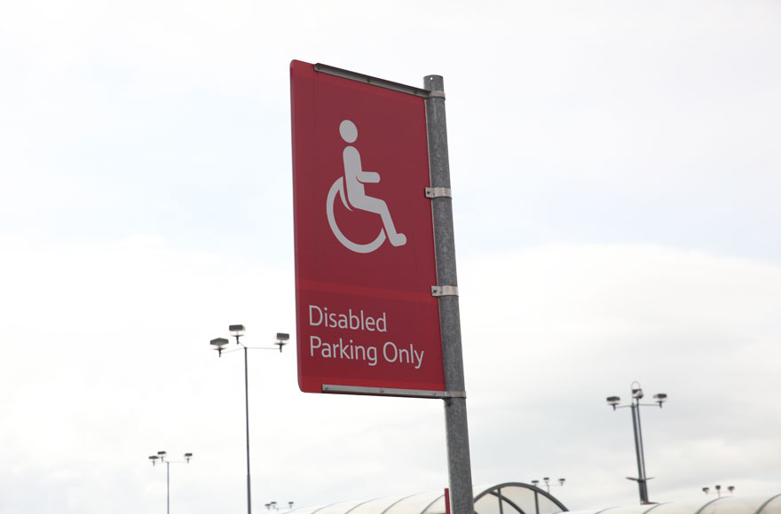 Convenient parking for Disabled Badge Holders