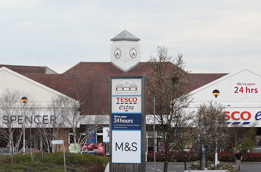 Tesco Extra and Marks and Spencer